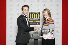 Lianne Tapson, Totemics Strategic Human Resources Director with the 2010 award